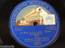 "78rpm 12"" CLARA BUTT o rest in the lord MONARCH 03177 BLUE LABEL SINGLE SIDED"