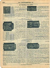 1915 AD Car Auto Automobile Tool Kits Ford Sterling Chauffeur Mechanicians