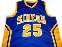DERRICK ROSE #25 SIMEON HIGH SCHOOL BASKETBALL JERSEY BLUE - ANY SIZE
