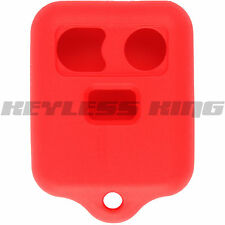 New Red Keyless Remote Key Fob Case Skin Jacket Cover Protector Three Button