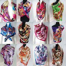 "*US SELLER*lot of 10p  large 39""x39"" head scarf bandana hijab satin square scarf"
