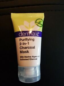 #547 New Derma e Purifying 2 in 1 Charcoal Face Mask Travel Sample Size 14g