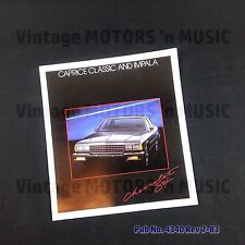 1984 Chevrolet Caprice & Impala Dealer Brochure Uncirculated NOS Vintage #4340