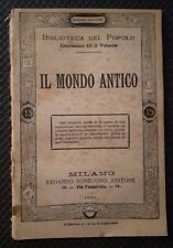 IL MONDO ANTICO 1885 N. 165 REGIONI E POPOLI STORIA E GEOGRAFIA B. D. P.