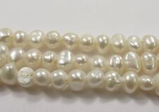 Freshwater Pearl White Nugget 7-8mm Hole Size1.8mm, Large Hole White Nugget(#24)