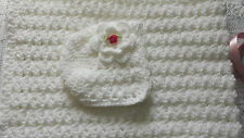 BABY SHAWL  CROCHET PATTERN and  BABY BONNET  CROCHET PATTERN