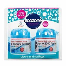 Ecozone Forever Flush Toilet Bloc Cleans Sanitises Lasts up to 2000 Flushes X2