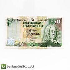 More details for scotland: 1 x 50 pound the royal bank of scotland plc banknotes.