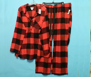 OLD NAVY Maternity Flannel Pajama Set Plaid Size Extra Large New With Tags