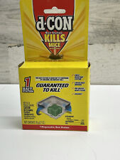 d-Con Rodenticide Rodent & Mouse Disposable Bait Station Corner Fit New 31