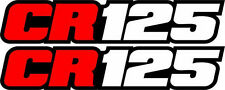 CR 125 Swingarm Airbox Number Plate Decals Stickers CR125 Cr125R 125r 2 stroke