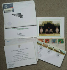 PRINCE CHARLES OFFICIAL CHRISTMAS CARD 1995 + royal invite & stamps