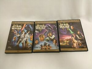 Star Wars Original Theatrical Trilogy 6 DVD A New Hope Empire Strikes Back Jedi