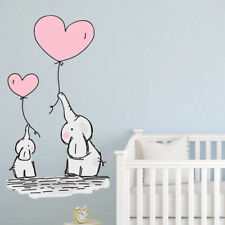 Baby Balloon Elephants Nursery Stickers Kids Decals Bedroom Wall Art Babies Boys