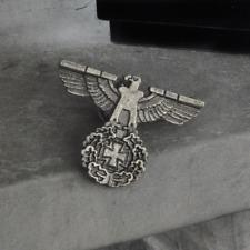 WWII German Eagle Iron Cross Badge Pin WW2 Germany Military Medal World War 2