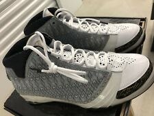 New AIR JORDAN XX3 23 SIZE 11 1/2 CD White Stealth Black Metallic Gold.
