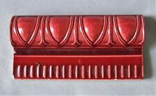 Belgian Art Nouveau Red Border Tile Egg & Dart Architectural Trim Hemixen