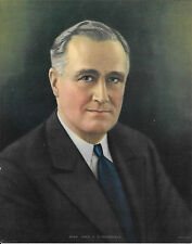 Pres. F. D. Roosevelt, B. D. 1933, Made In USA, Salesman Sample Cal. Print 1940s