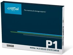 HARD DISK SSD STATO SOLIDO 500GB CRUCIAL P1 3D NAND NVMe PCIe M.2 CT500P1SSD8