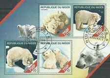 Timbres Animaux Ours Niger 2331/4 o année 2014 lot 10553 - cote : 17 €