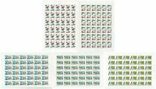RUSSIA 1998 Sc# 6473-77 Full Sheets, Regions of Russia, MNH