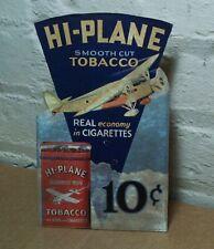 Vintage Hi Plane Tobacco Pocket tin Die Cut Advertising Store Display Sign-RARE