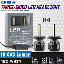 H4 9003 LED Headlights 10000LM 120W High Power Cree COB High Low Beam White Bulb