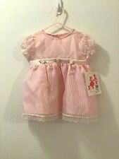 FANCY GIRL Special Occasion Party Dress Girl 12 Months Pink w/Lace Trim
