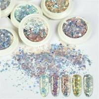 3D Chameleon Holographic Nail Sequins Powder Glitter Flakes Charms Dust Decor