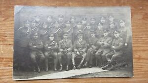 Postcard WW1 2 Regiments & Officers  At Selby Yorkshire Studio. 1918. Unposted.