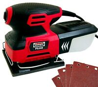 1/4 Sheet Detail Palm Sander 240w with Dust Box & Sanding Sheets Electric 240v
