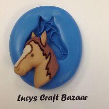 Silicona Molde 1 caballo cabeza Caballo Pony Ecuestre Cake Decorating Sugarcraft