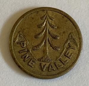 Vintage Antique Pine Valley NJ Golf Club Ball Marker Brass Excellent Condition