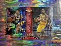 Kobe Bryant Shaq Topps Finest Refractor w/ Coating📈💎✨ Rare✨ Lakers Legends🐐🐐