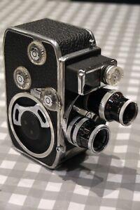 Bolex D8L Double 8mm Camera, 2 lens, handgrip, case Instructions FREE POSTAGE