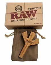 "RAW Triple Barrel ""the Trident""   cigarette holder w 25 raw king size cones"