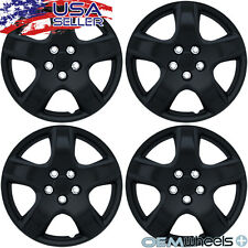"4 NEW OEM MATTE BLACK 15"" HUBCAP FIT CHEVY TRUCK VAN CROSSOVER WHEEL COVERS SET"