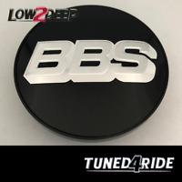 BBS Original Felgendeckel Center Caps Badges Schwarz/Silber 70.6mm TypB RS RM RF
