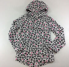 Jumping Beans Fleece Hoodie Black White Animal Print pouch Pocket  Girls Size 6