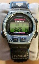 Timex Ironman Triathlon 8 lap women's digital sports watch cyan nylon strap 770