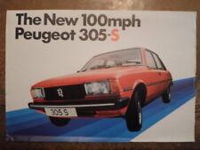 PEUGEOT 305 S SALOON orig 1980 1981 UK Mkt Sales Leaflet Brochure - 350S