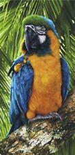 "30"" X 60"" Tropical Bird Macaw Velour Beach Towel 100%Cotton"