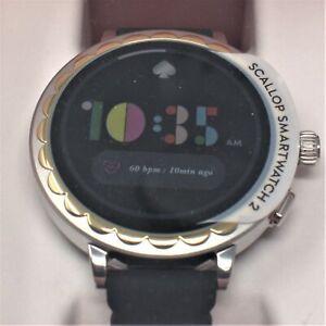 kate spade new york scallop smartwatch 2 black silicone KST2008