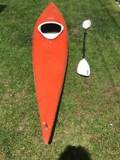 1974 12ft orange fiberglass whitewater Seda kayak