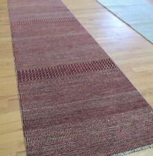 Modern 3x10 Savannah Runner Oriental Area Rug Red wool hand-knotted