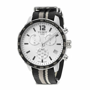Tissot Men's Quickster Chronograph Silver Dial Watch - T0954171703710 NEW