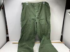 Early Vietnam (61) Army/ Usmc Og 107 Cotton Fatigue Pants Sz Large