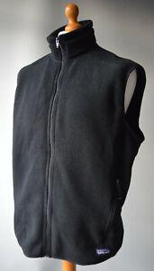 Men's Black Patagonia Synchilla Fleece Vest, Gilet, Bodywarmer Size UK XL.