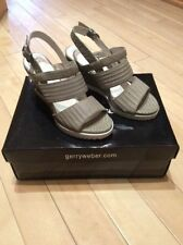Wedge Sandals 100% Leather Heels for Women