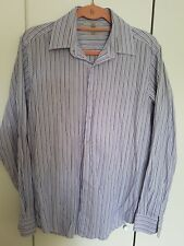"Next men shirt purple strip size 15 1/2"" INCH  Regular fit easy iron"